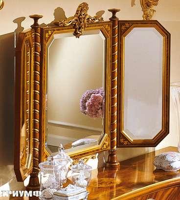 Итальянская мебель Colombo Mobili - Зеркало-трильяж арт.511 кол. Boccherini аф.дерево палисандр