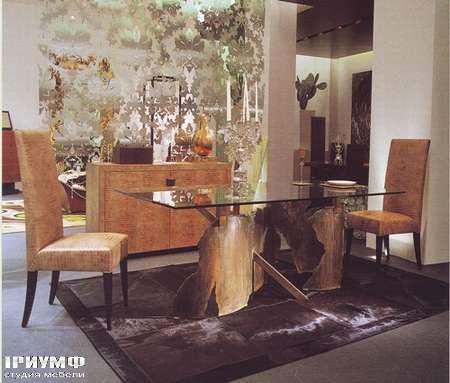 Итальянская мебель Rugiano - Стол Giorgio металл, стекло