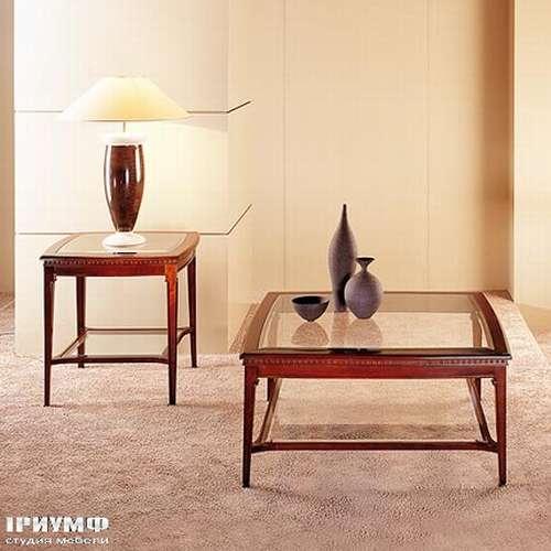Итальянская мебель Medea - Журнальный стол квадратный, со стеклянной столешницей