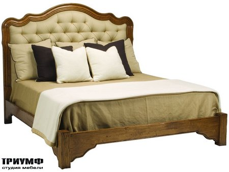 Американская мебель Chaddock - Bellaire Tufted Bed With Footrail