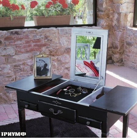 Итальянская мебель Tonin casa - туалетный стол с зеркалом, раздвижной