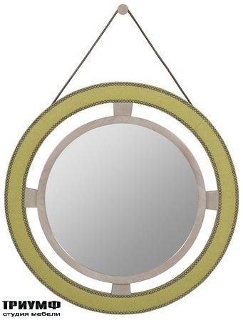 Американская мебель Vanguard - Robineau Road Upholstered Round Mirror