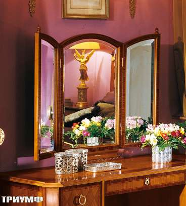 Итальянская мебель Colombo Mobili - Зеркало-трильяж кол. Donizetti арт.296.2-вишня палисандр