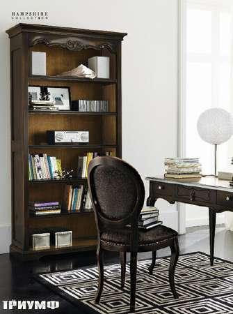 Итальянская мебель Flai - арт-деко мини кабинет в коричневом лаке