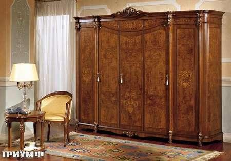 Итальянская мебель Grilli - Шкаф с 5 распашными дверьми и радикой
