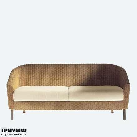 Итальянская мебель Driade - Диван из ротанга закругленный