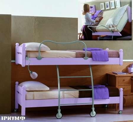 Итальянская мебель De Baggis - Кровать двухярусная 20-507