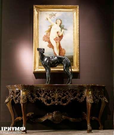 Итальянская мебель Jumbo Collection - Консоль с мраморным топом Matisse