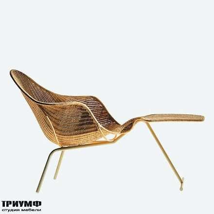 Итальянская мебель Driade - Кресло-шезлонг с подножкой