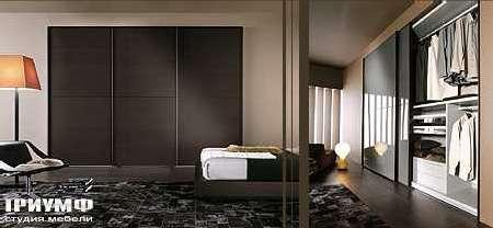 Итальянская мебель Map - Шкаф Inside Profilo с раздвижными дверцами в венге