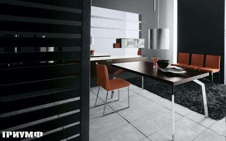 Итальянская мебель Presotto - стол spider в темном дубе