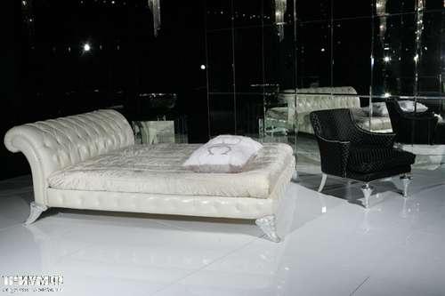 Итальянская мебель Cornelio Cappellini - Кровать двухспальная, серебро, кожа