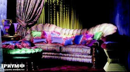 Итальянская мебель Zanaboni - Диван с закруглённое спинкой Panthenon