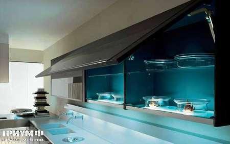 Итальянские кухни Pedini - Кухня Integra полки с подсветкой