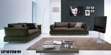 Итальянская мебель Valmori - диван Bolid пуховой в ткани