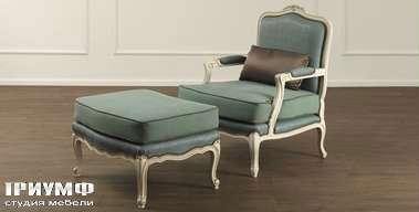 Итальянская мебель Galimberti Nino - кресло и пуф Penelope
