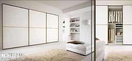 Итальянская мебель Map - Шкаф Inside Profilo раздвижные двери, белый матовый лак
