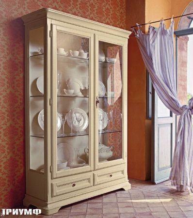 Итальянская мебель Tonin casa - витрина с ящиками