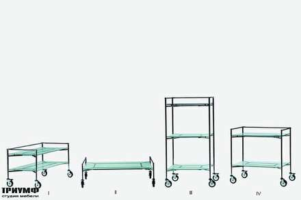 Итальянская мебель Driade - Столики сервировочные Free man