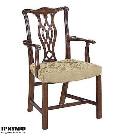 Американская мебель Hickory Chair - Carolina Chippendale Arm Chair
