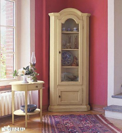 Итальянская мебель Tonin casa - витрина угловая со стеклом