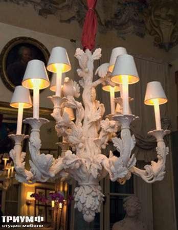Итальянская мебель Chelini - Люстра потолочная с цветочным орнаментом