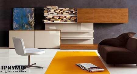 Итальянская мебель Pianca - People, стенка с панелями