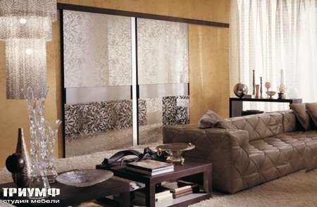 Итальянская мебель Longhi - Раздвижная перегородка Headline, стекло декоро
