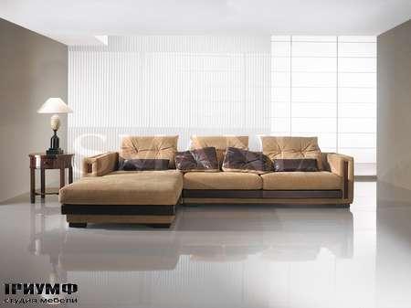Итальянская мебель Smania - Диван Stefanus угловой, кожаный