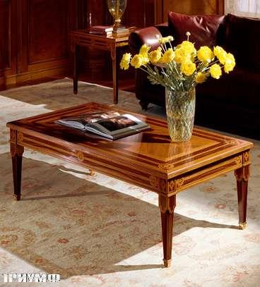 Итальянская мебель Colombo Mobili - Столик для гостинной в имперском стиле арт.373.130 кол. Leoncavallo