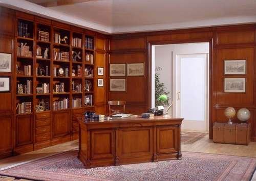 Итальянская мебель Arca - Кабинет Novalis Classica, стол, библиотека, стеновые панели