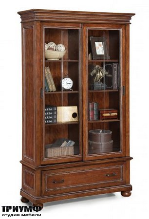 Американская мебель Flexsteel - American Heritage Sliding Door Bookcase