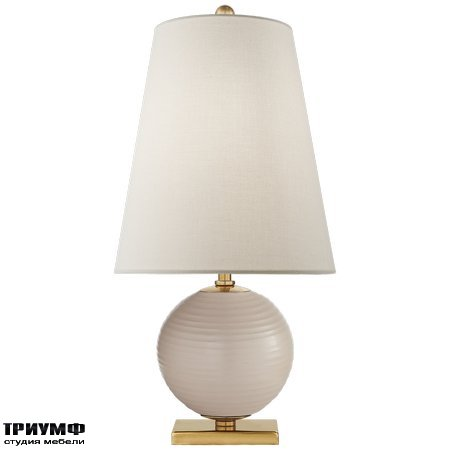 Американская мебель Visual Comfort & Co - Corbin Mini Accent Lamp in Blush with Linen Shade