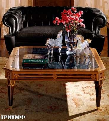 Итальянская мебель Colombo Mobili - Столик для гостинной в имперском стиле арт.405.120 кол. Leoncavallo