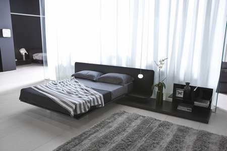 Итальянская мебель Pianca - Кровать с прикроватным столиком Filo Xl