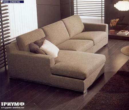 Итальянская мебель CTS Salotti - Диван модерн в хлопковой ткани, Ginseng