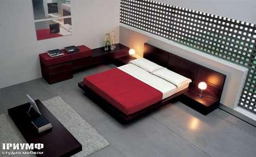 Итальянская мебель Pianca - Кровать People угловая с комодами