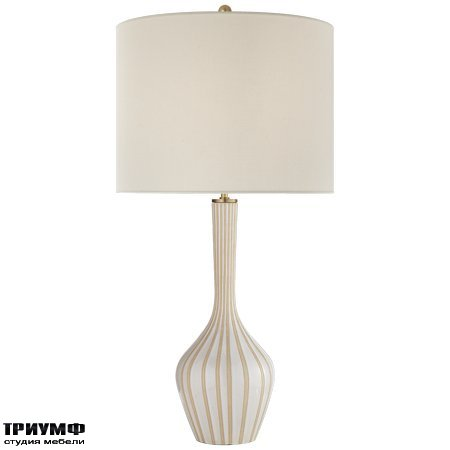 Американская мебель Visual Comfort & Co - Parkwood Large Table Lamp in Natural Bisque and New White with Linen Shade
