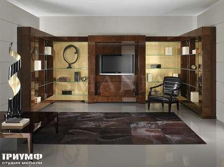 Итальянская мебель Smania - Стенка угловая Biblo composition