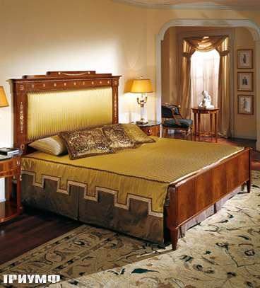 Итальянская мебель Colombo Mobili - Кровать в имперском стиле арт.142.2 кол.Bellini