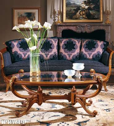 Итальянская мебель Colombo Mobili - Столик овальный арт.268.2.РС кол. Vivaldi