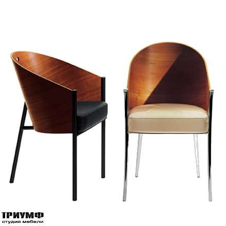 Итальянская мебель Driade - Кресло с деревянной спинкой