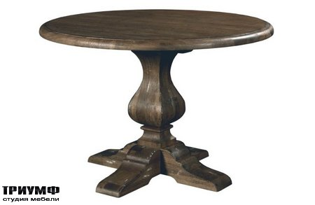 Американская мебель Kincaid - 44IN ROUND DINING TABLE WOOD BASE