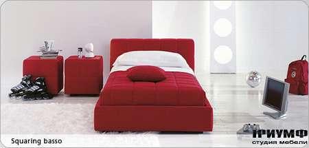 Итальянская мебель Bonaldo - кровать односпальная Squaring basso