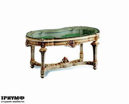 Итальянская мебель Silik - Столик Ulisse со стеклянным топом