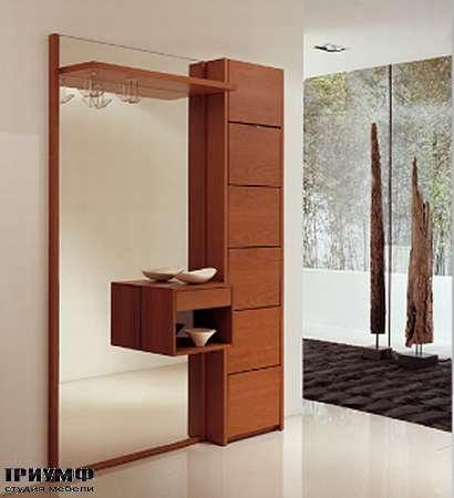 Итальянская мебель Longhi - Полка под обувь с зеркалом Domino