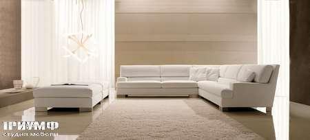 Итальянская мебель CTS Salotti - Диван с пуфом, коллекция Grande soiree