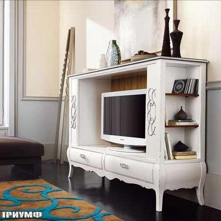 Итальянская мебель Flai - министенка под тв с ящиками в классике
