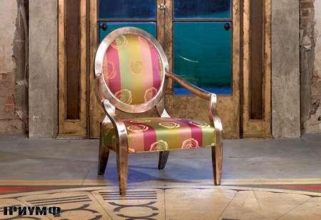 Английская мебель Duresta - кресло nero-silver