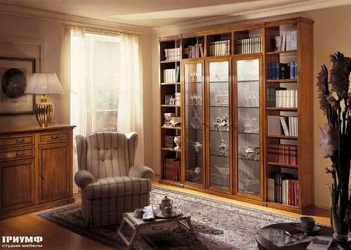 Итальянская мебель Bizzotto - Библиотека со стеклянными дверцами